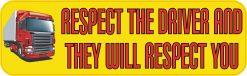 Respect Truck Drivers Bumper Sticker