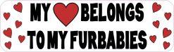 My Heart Belongs to My Furbabies Bumper Sticker
