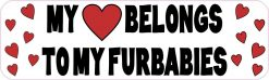 My Heart Belongs to My Furbabies Magnet