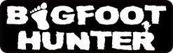 Bigfoot Hunter Bumper Sticker