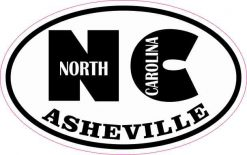 Oval NC Asheville North Carolina Sticker