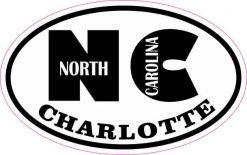 Oval NC Charlotte North Carolina Sticker