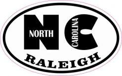 Oval NC Raleigh North Carolina Sticker