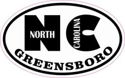 Oval NC Greensboro North Carolina Sticker