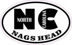 Oval NC Nags Head North Carolina Sticker