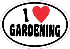 Oval I Love Gardening Sticker