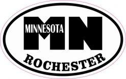 Oval MN Rochester Minnesota Sticker