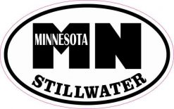 Oval MN Stillwater Minnesota Sticker