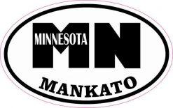 Oval MN Mankato Minnesota Sticker