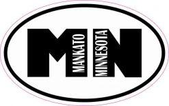Oval Mankato Minnesota Sticker