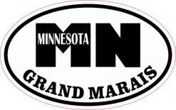 Oval MN Grand Marais Minnesota Sticker
