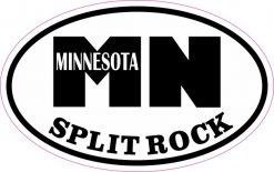 Oval MN Split Rock Minnesota Sticker