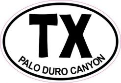 Oval Palo Duro Canyon Sticker