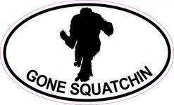 Oval Gone Squatchin Sticker