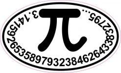 Oval Pi Sticker