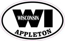Oval WI Appleton Wisconsin Sticker