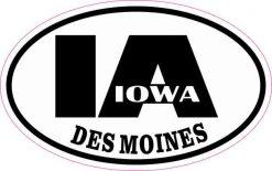 Oval IA Des Moines Iowa Sticker
