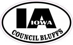 Oval IA Council Bluffs Iowa Sticker