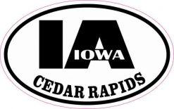 Oval IA Cedar Rapids Iowa Sticker