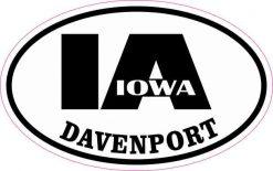 Oval IA Davenport Iowa Sticker