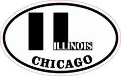 Oval Chicago Illinois Sticker