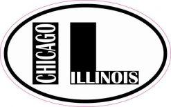 Oval IL Chicago Illinois Sticker