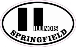 Oval IL Springfield Illinois Sticker