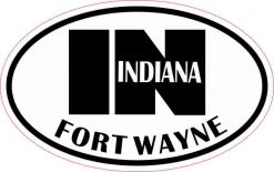 Oval IN Fort Wayne Indiana Sticker
