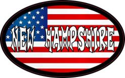 Oval American Flag New Hampshire Sticker