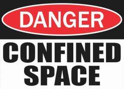 Danger Confined Space Sticker