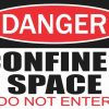 Do Not Enter Confined Space Sticker