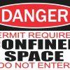 Permit Required Confined Space Sticker