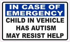 Child in Vehicle Has Autism Magnet