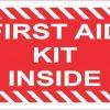 First Aid Kit Inside Sticker