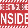 Fire Extinguisher Inside Sticker