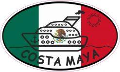 Flag Oval Cruise Ship Costa Maya Sticker