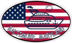 Flag Oval Cruise Baltimore Sticker