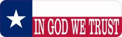 Texas Flag in God We Trust Magnet
