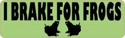 I Brake for Frogs Vinyl Sticker