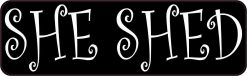She Shed Vinyl Sticker