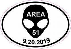 Oval Area 51 Raid Vinyl Sticker
