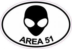 Oval Area 51 Vinyl Sticker
