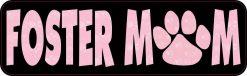 Paw Print Foster Mom Vinyl Sticker