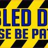Disabled Driver Vinyl Sticker