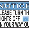 Turn the Lights off Magnet