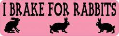 I Brake for Rabbits Vinyl Sticker