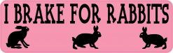 I Brake for Rabbits Magnet