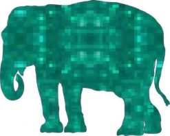 Emerald Elephant Vinyl Sticker