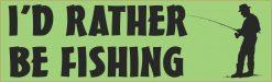 Id Rather Be Fishing Vinyl Sticker