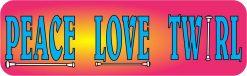 Peace Love Twirl Vinyl Sticker